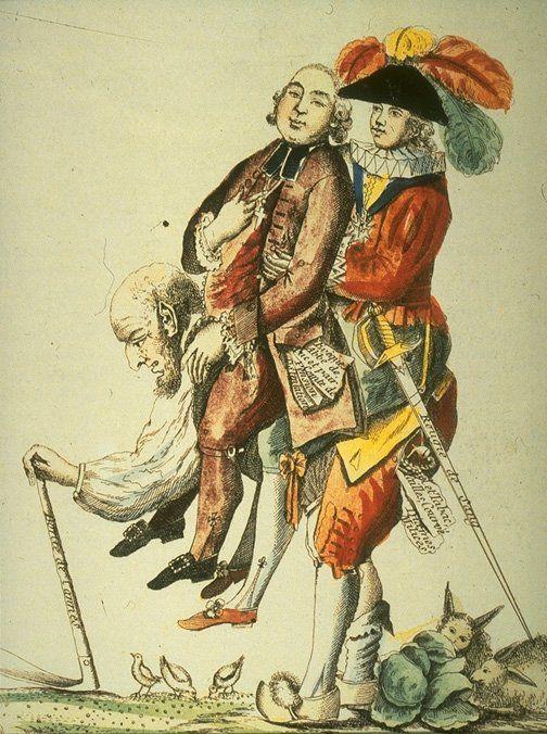 Le Tiers état supportant le clergé et la noblesse - Une doléance majeure : impôt pour tous et égalité devant l'impôt
