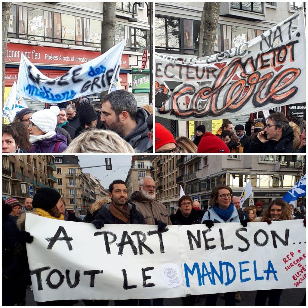 Manifestation du 10 décembre à Rouen - Les enseignants présents en masse