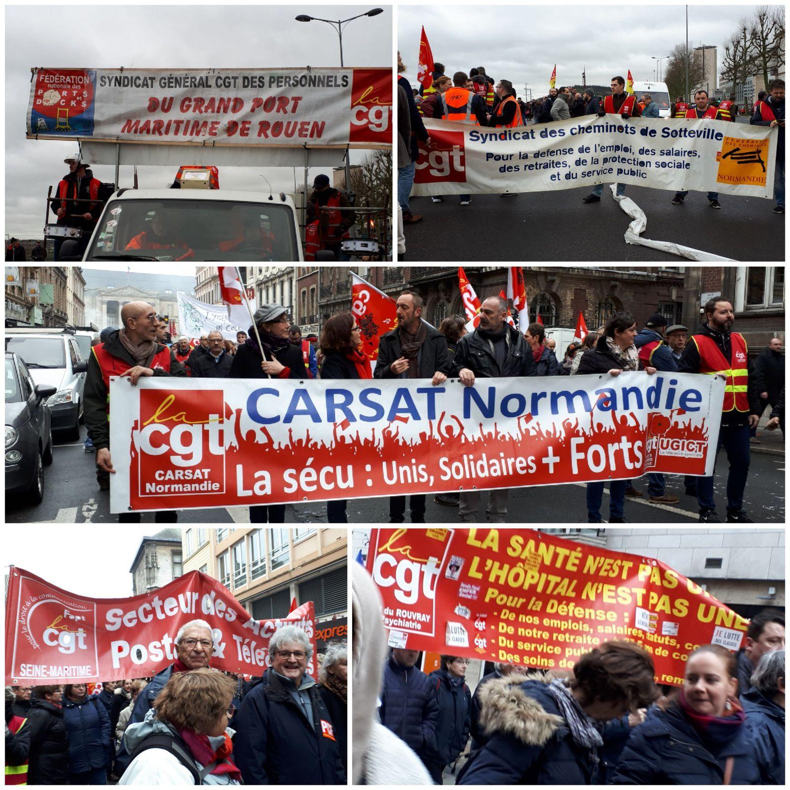 Grève du 9 janvier - Des dizaines de milliers de manifestants en Seine-Maritime - Déterminés, vigilants, révoltés
