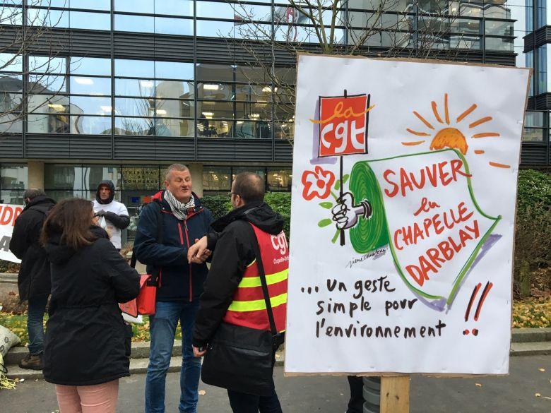 Julien Bayou et Philippe Martinez à la Chapelle-Darblay pour « sauver l'emploi et le climat » - Verra-t-on fermer la seule usine en france à produire du papier 100% recyclé ? Que vaudra alors la parole du gouvernement et du président sur l'écologie?