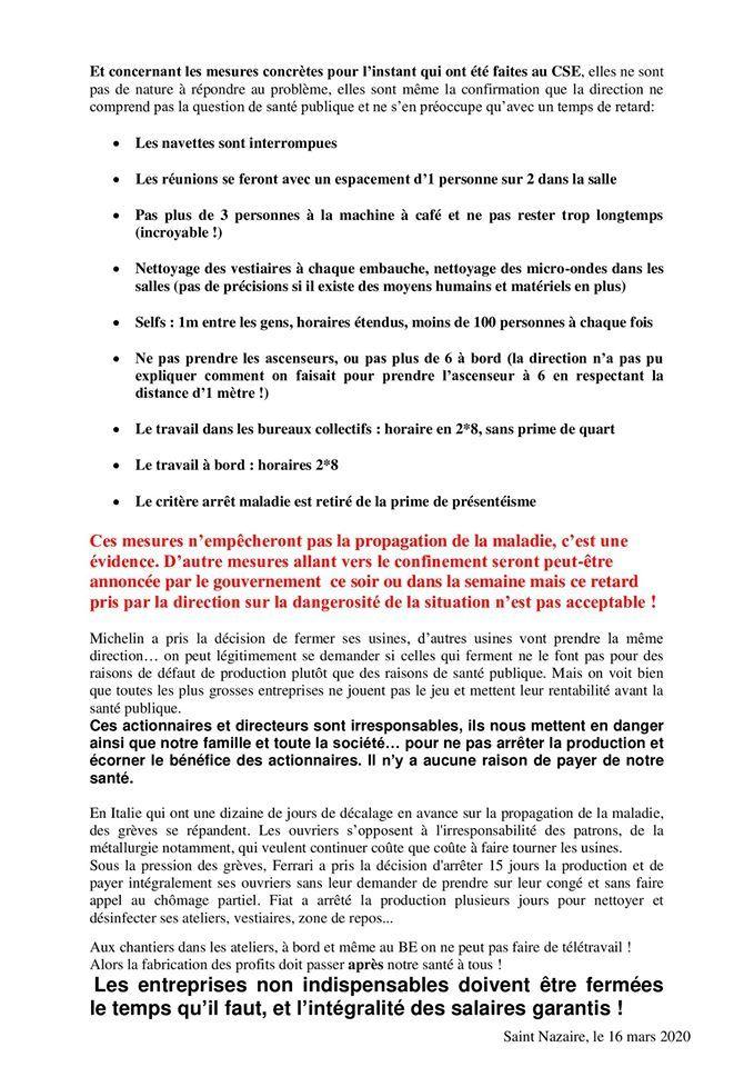 Coronavirus : à Saint-Nazaire, les ouvriers des Chantiers de l'Atlantique refusent de monter à bord