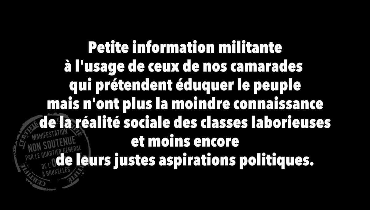 L'état des luttes politiques en France (une information)