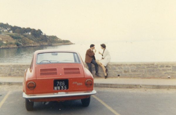 Mes parents - Coupé-Fiat-850 - 1967 - Port-Mer - Photo-Thierry-Le-Bras
