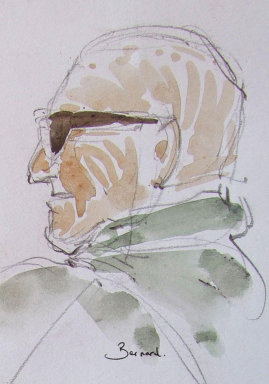 Bernard Lesieur. Bretagne sortie sur le bateau de Bernard  Crayon et aquarelle  21x29 août 2008 Bhavsar