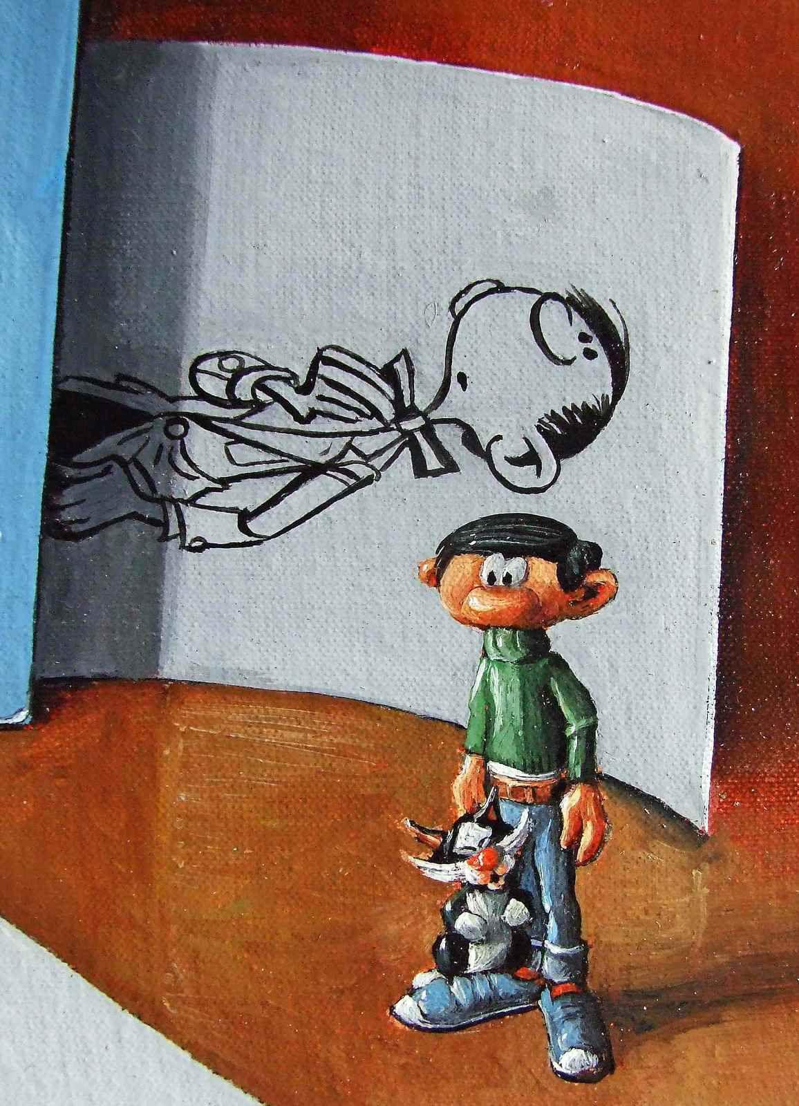 Une synthése par l'image et le document, de mon travail à l'atelier sur l'univers d'André Franquin. Bhavsar