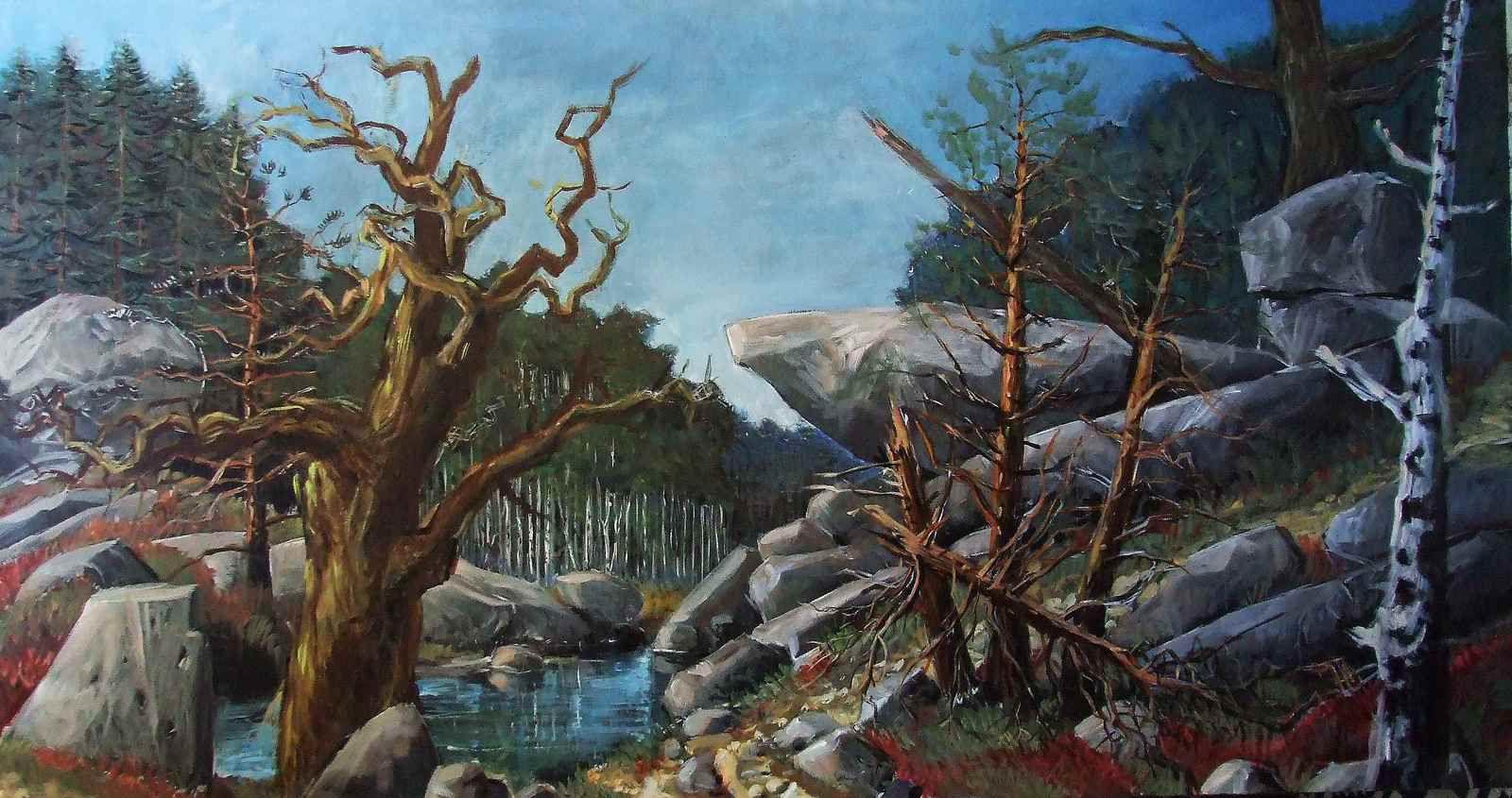 TABLEAUX EN COURS 2,  la forêt