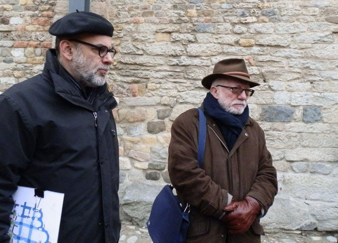 Guido Faccani (à gauche) et Christian Sapin lors d'une séance de travail à Payerne.