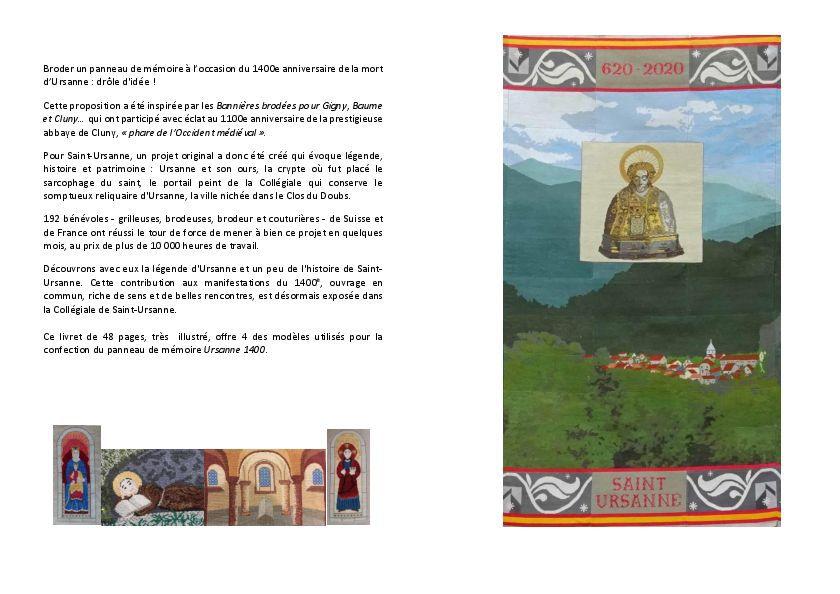 Ursanne 1400 #15 : présentation du panneau de mémoire et livret-souvenir