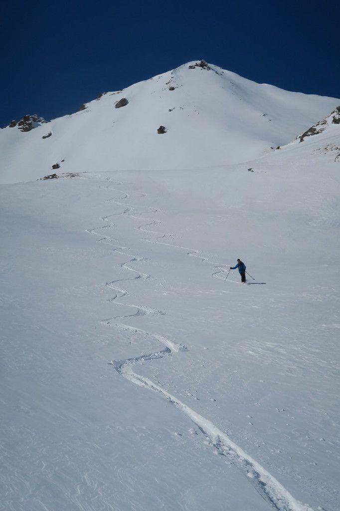 La neige là où elle se trouve...
