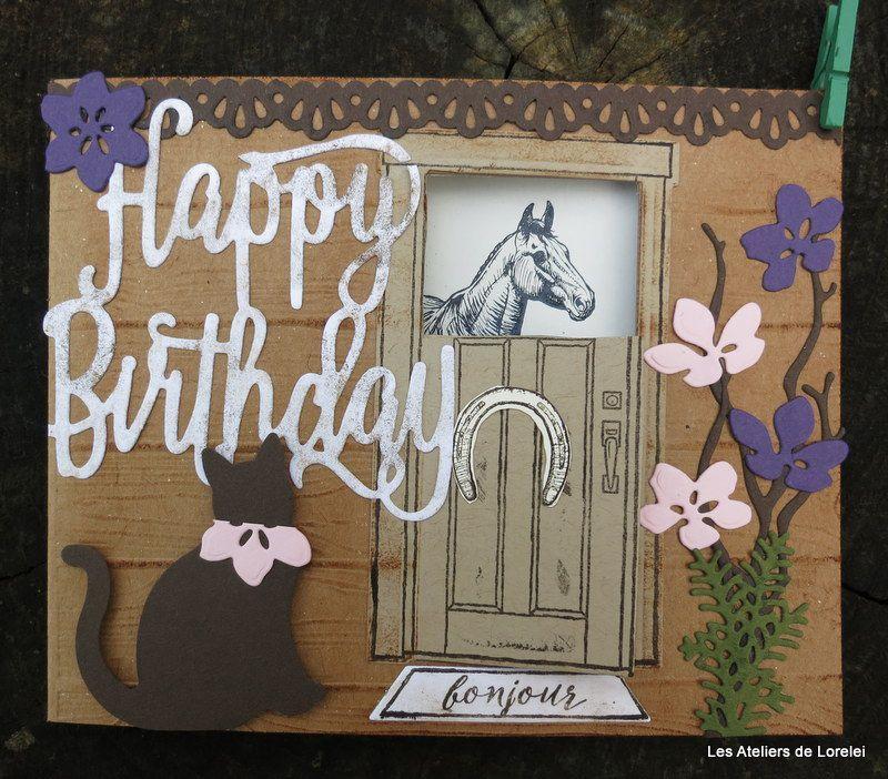 Une carte d'anniversaire équine