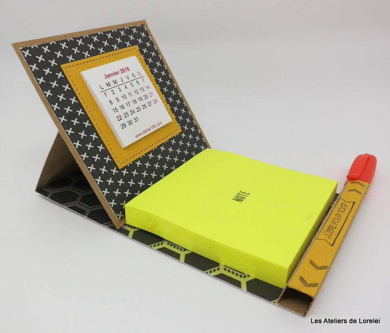Support post it/calendrier