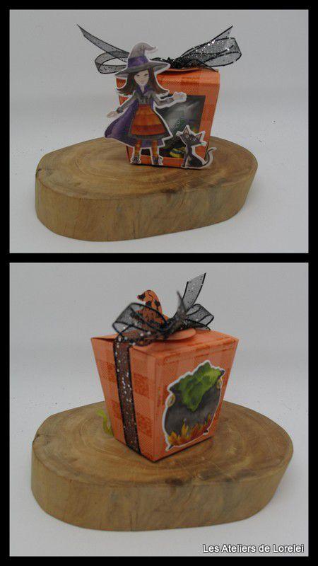 """Carte et  boite Halloween """"Cauldron Bubble"""""""