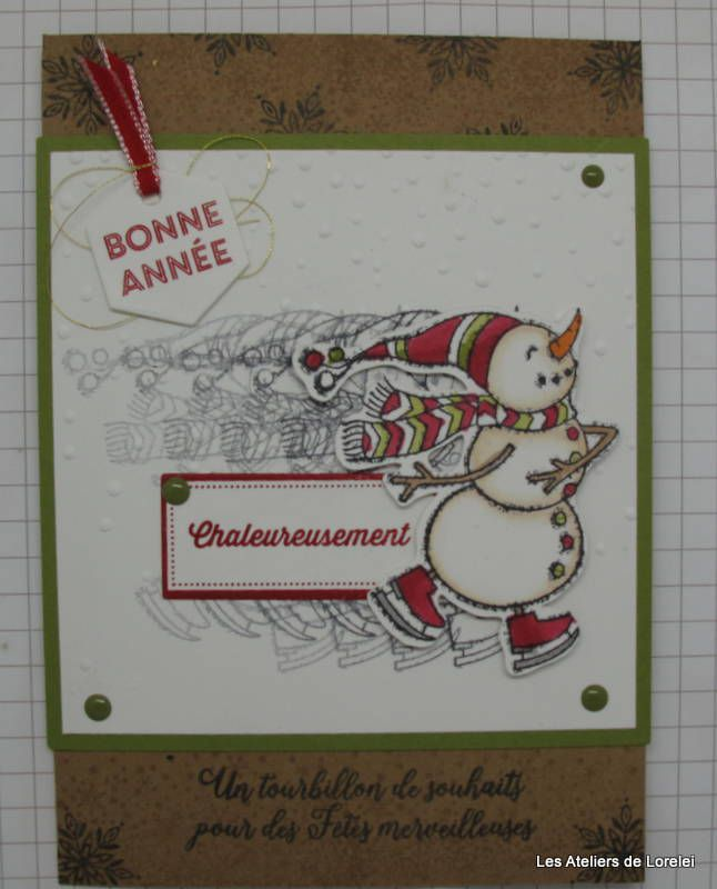 """Spirited snowmen"" stampin up!"