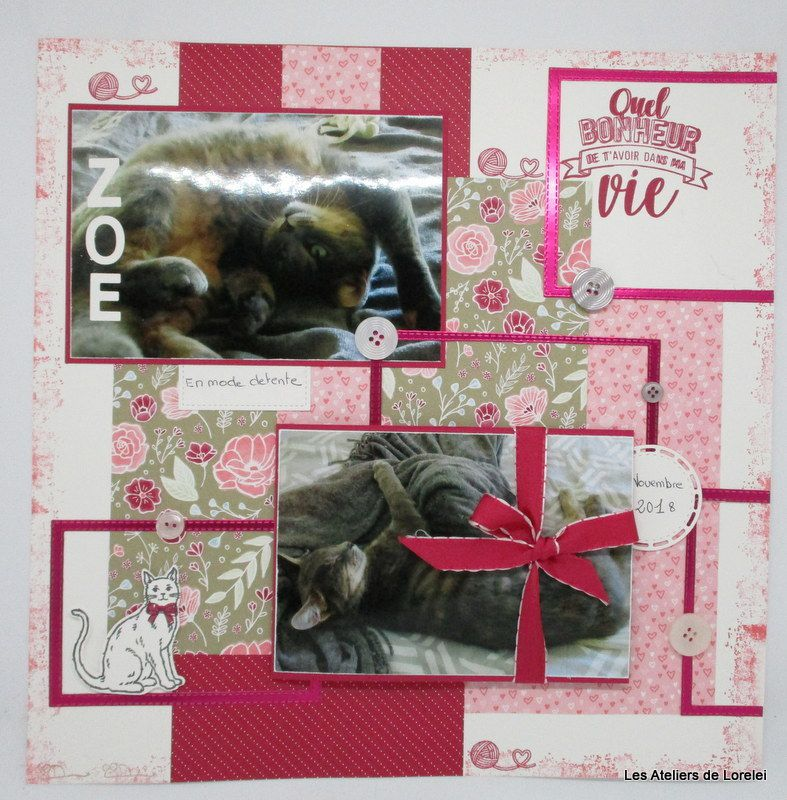 Page de scrap tout en rectangle