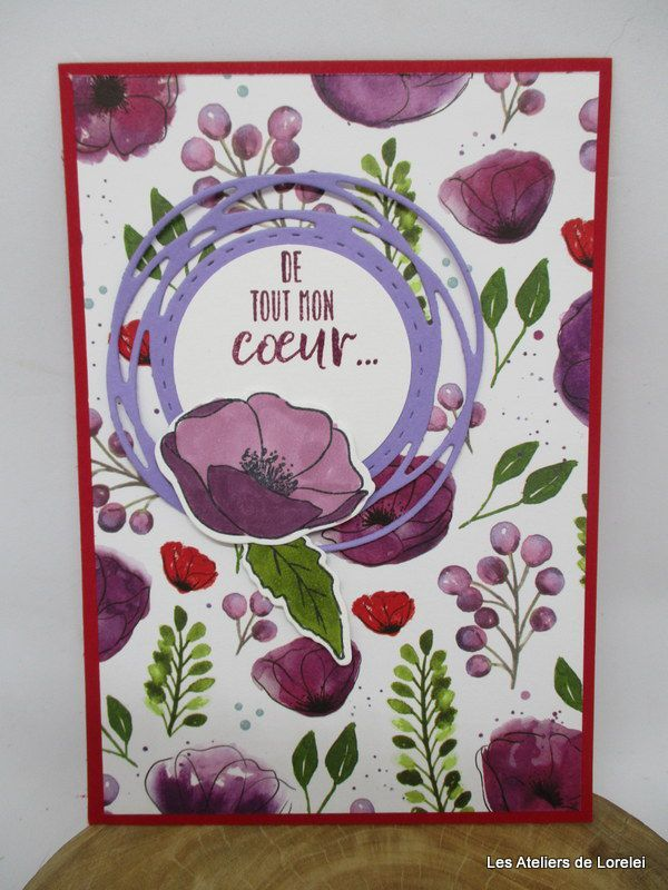 """""""painted popies"""" chez Stampin Up"""