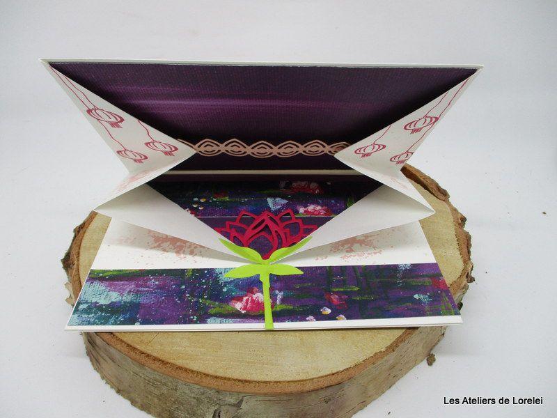 Carte enveloppe avec pliage original