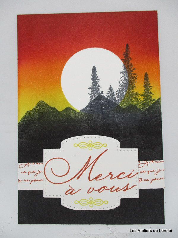 """Mountain air"" chez Stampin""up!"