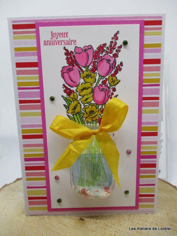 """""""Un bouquet de fleurs avec """"Jar of flower""""  chez Stampin'Up!"""