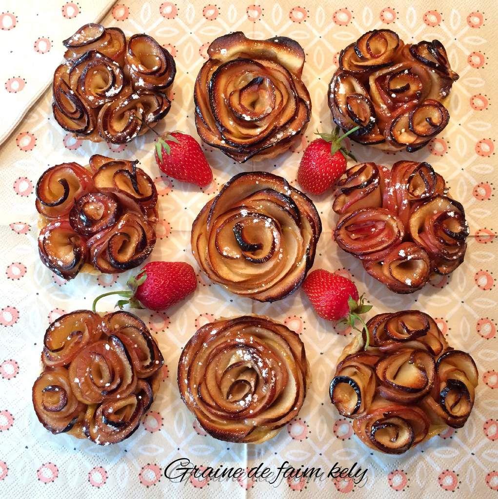 Tartelettes bouquet de rose selon Alain Passard à ma façon