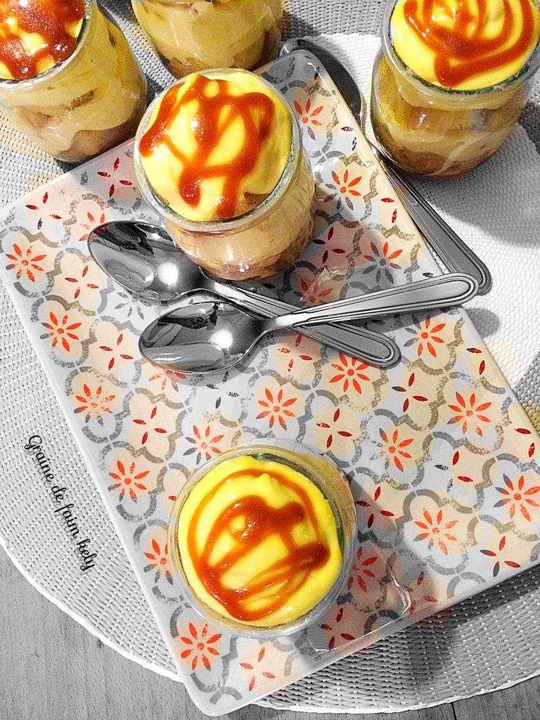 Tiramisu aux pommes et caramel beurre salé