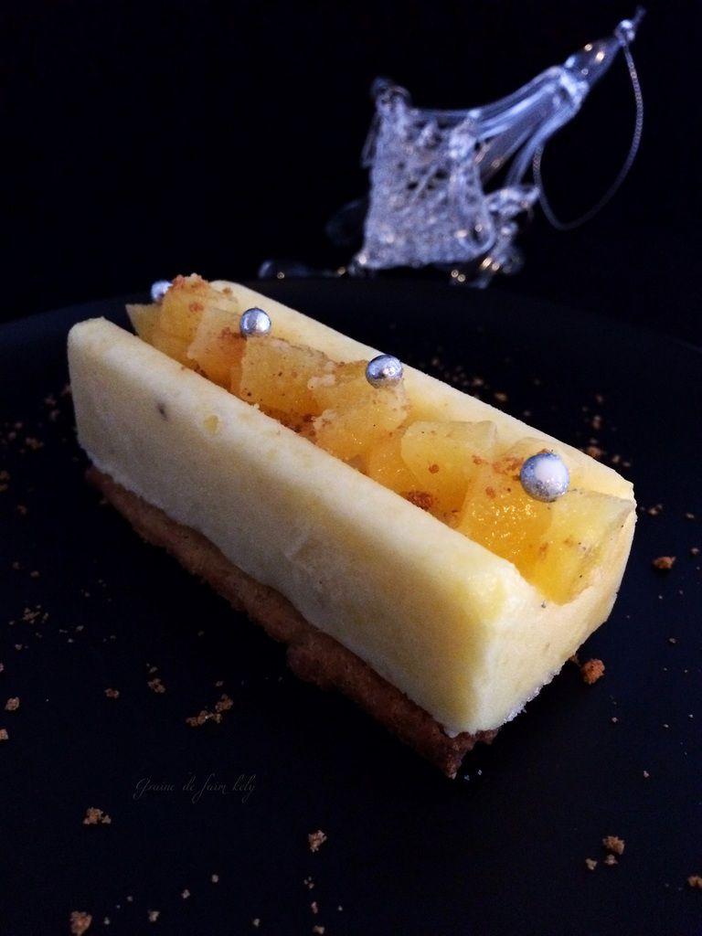 Sorbet ananas et sur son lit de sablé citron
