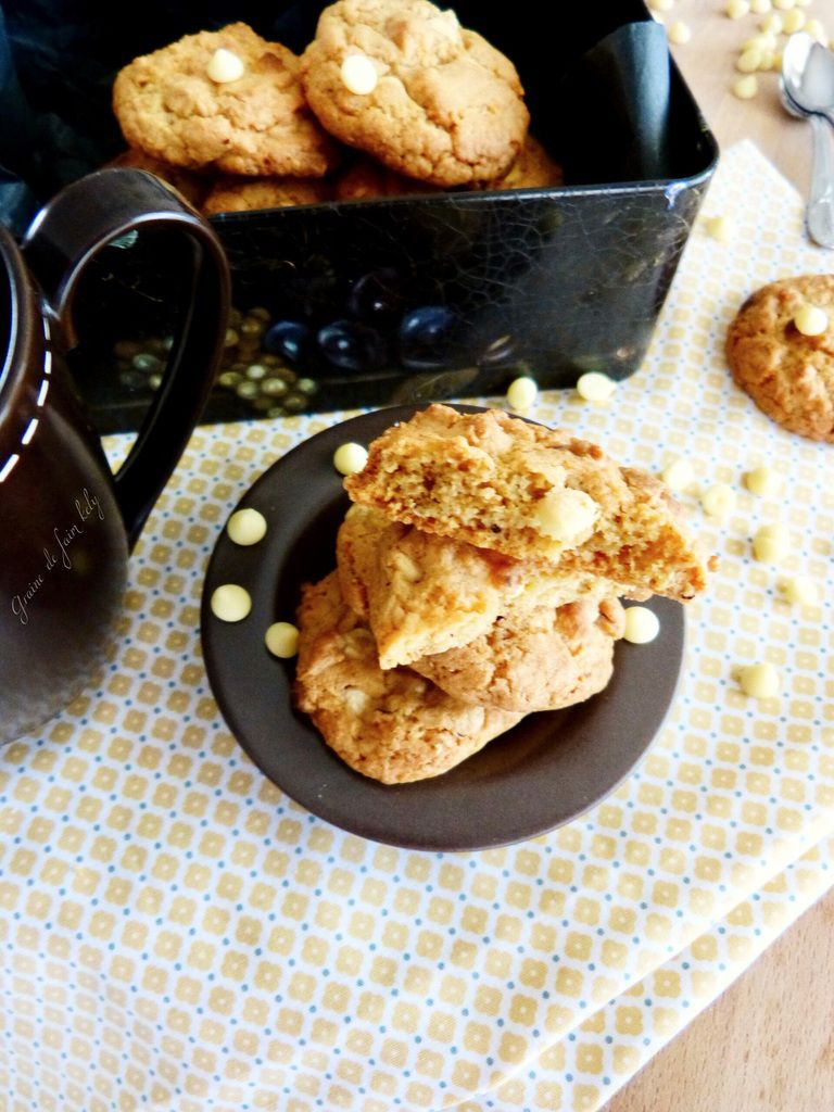 Cookies spéculos, chocolat blanc