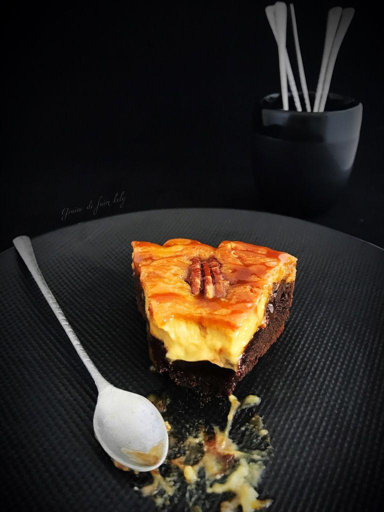 Brownies cheesecake au caramel beurre salé