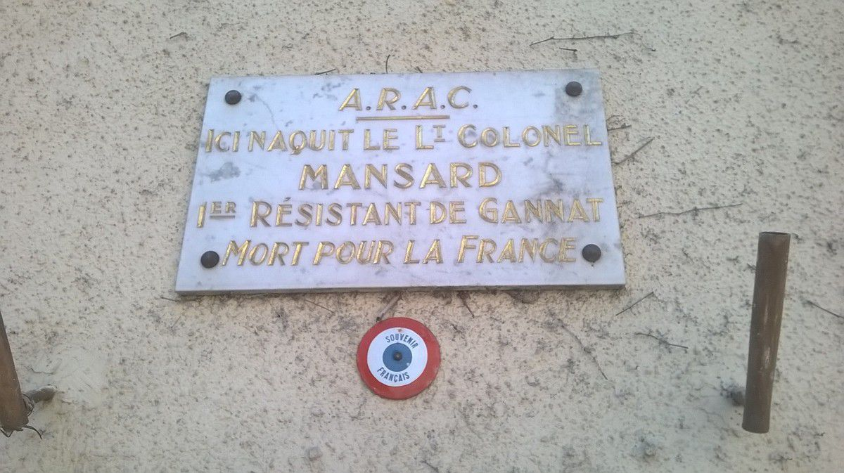 plaque rue Rabusson et place Mansard