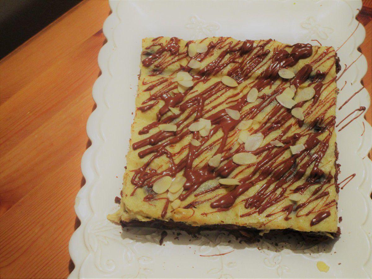 Cheesecake-brownie
