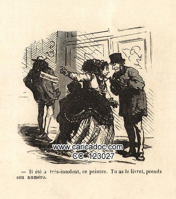Cham (1819-1879), Salon de 1869 charivarisé, 1869.