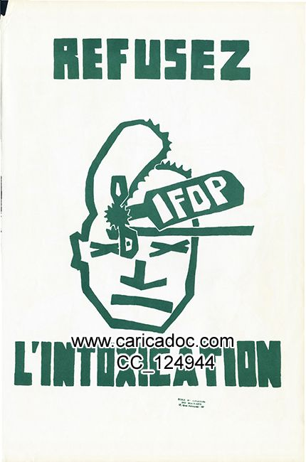 « Refusez l'intoxication / Ifop », affiche, 1968.