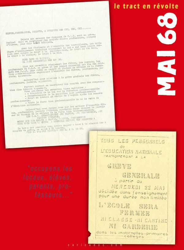 MAI 68, LE TRACT EN RÉVOLTE, exposition itinérante à louer