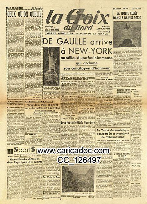 Charles de Gaulle, général de Gaulle dans la presse quotidienne, journaux quotidiens