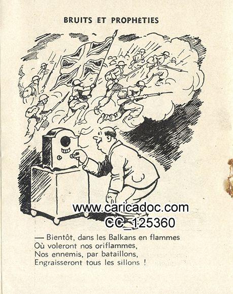 Jean Chaperon (1887-1969), Les Bruits et prophéties qu'on émet...et la Vérité toute nue, vers 1942.