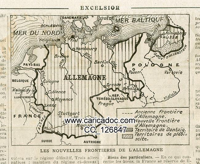 Traité de Versailles juin 1919 et années suivantes Treaty of Versailles Friedensvertrag von Versailles