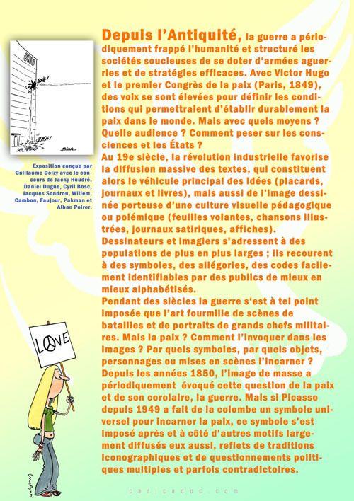 LA PAIX ET SES SYMBOLES, exposition itinérante à louer / à imprimer
