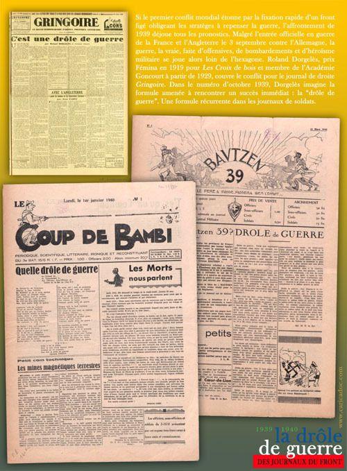 LA DROLE DE GUERRE DES JOURNAUX DU FRONT 1939-1940 : exposition itinérante à imprimer