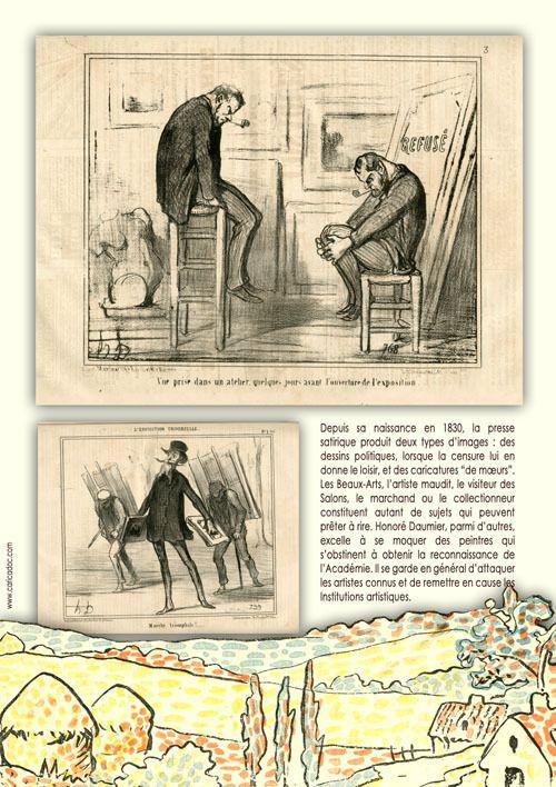 L'IMPRESSIONNISME VU PAR LE DESSIN DE PRESSE, exposition itinérante à imprimer / louer
