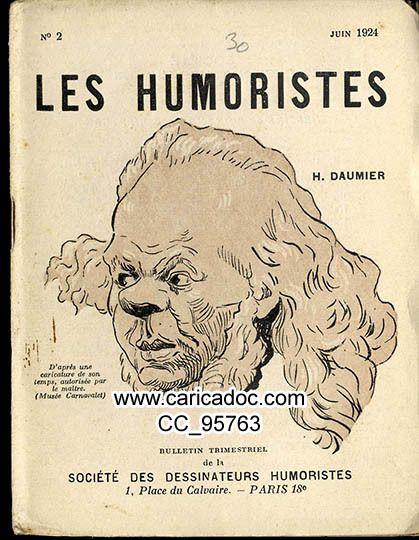 Images dessins représentant caricatures de figurant Honoré Daumier