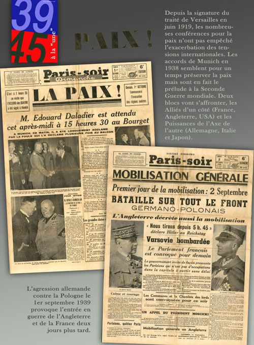 """39-45 à la """"une"""", la presse pendant la Seconde guerre mondiale : exposition itinérante à louer / à imprimer"""
