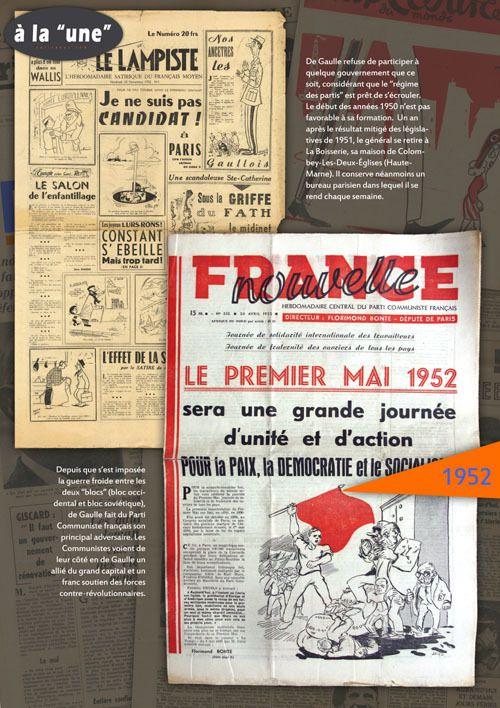Expo de Gaulle, Exposition Charles DE GAULLE A LA UNE et DE GAULLE A L'AFFICHE : expositions itinérantes à louer  / à imprimer