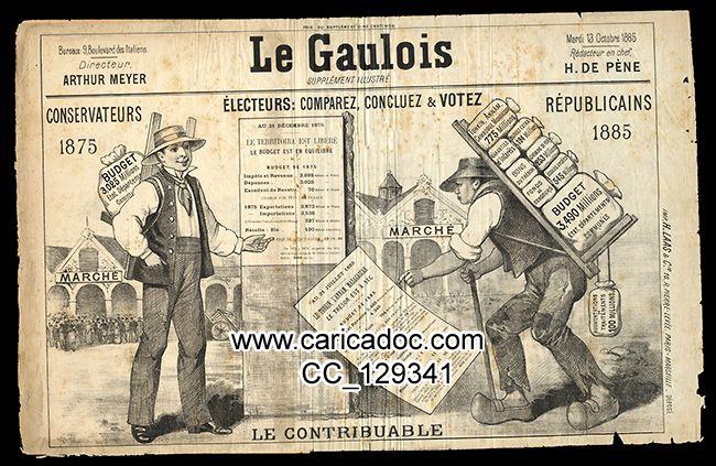 Electeurs, comparez, concluez, votez Le Gaulois 1883