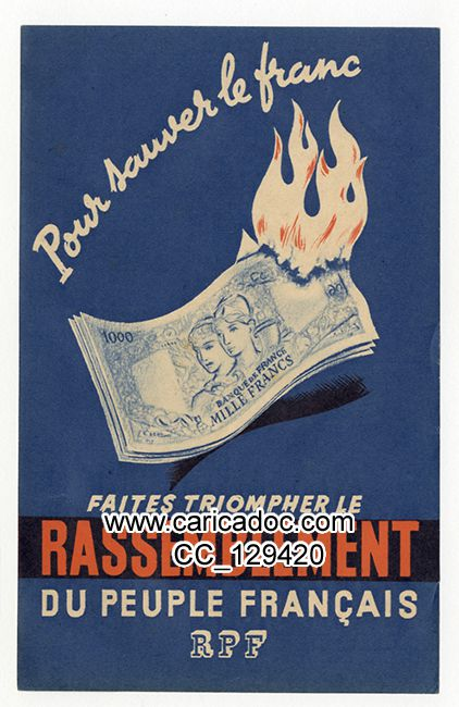 Rassemblement du peuple français RPF R. P. F.