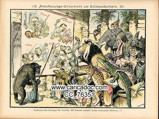 Colonisation Colonialisme, anticolonialisme, colonies - Kolonialismus Kolonisation - Colonialisation, Colonialism Satirique, Satirical, Dessins en couleur, colours
