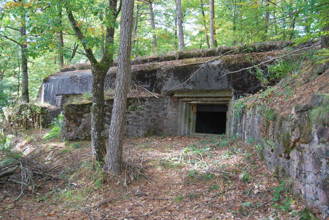 Les casemates Schoenblick au Biesenberg faisaient parties de la défense de la ligne Maginot