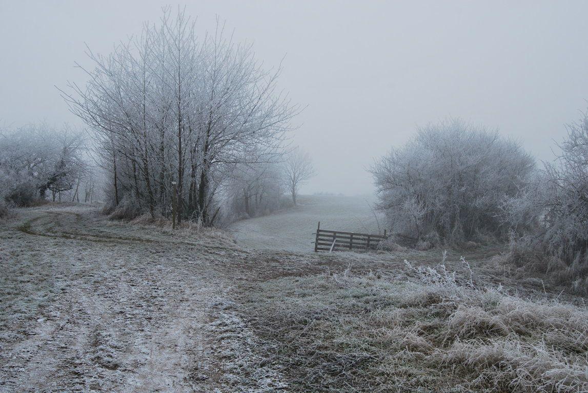 Paysages champêtres un jour d'hiver ...