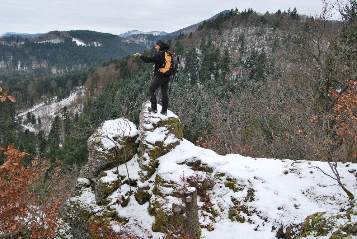 Avec une vue plongeante sur la vallée de la Bruche