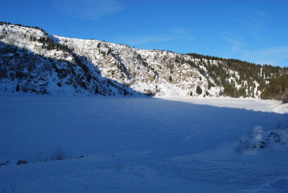 Le lac Blanc encore dans l'ombre