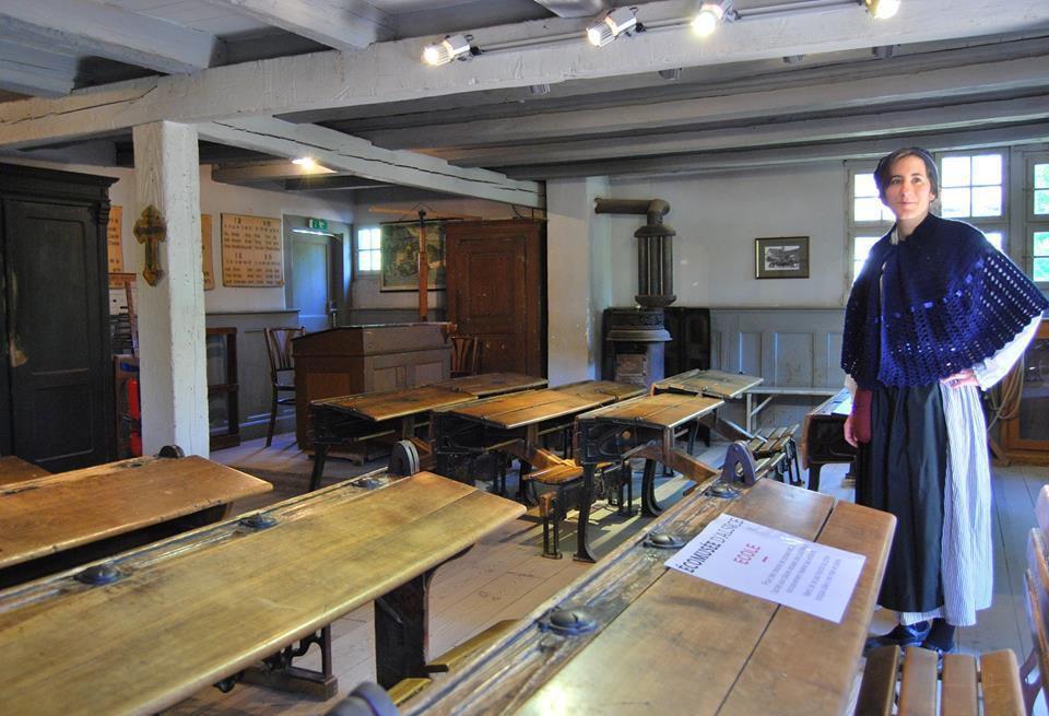 La salle de classe de l'Ecomusée