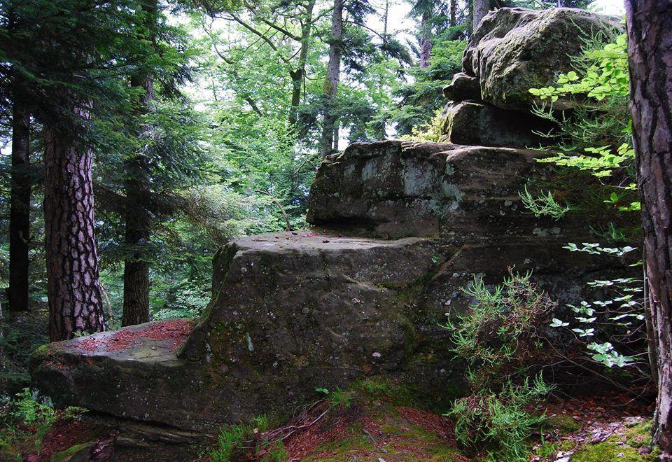 Un rocher débité près du pas de l'âne